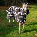 Halloween Skulls Fleece Coat
