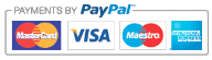 Payments by PayPal | We accept Mastercard, Visa, Maestro and American Express