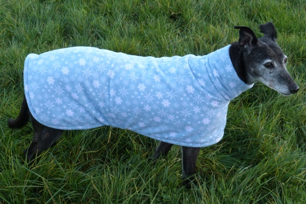 blue snowflakes christmas fleece coat