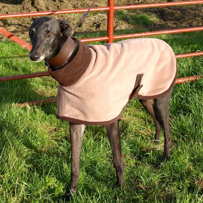 Greyhound Fleece Coat in Mocha Design Worn by Roger