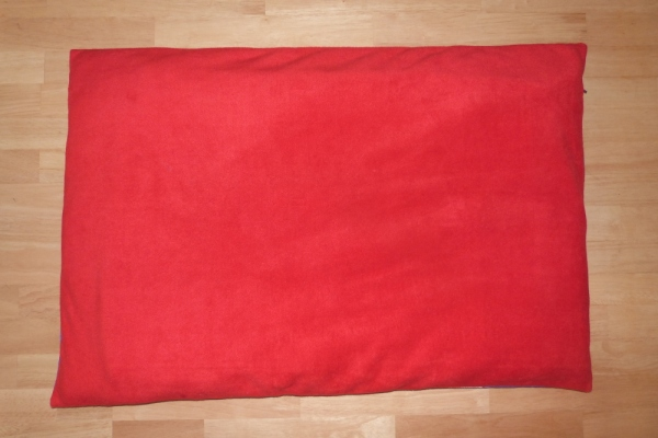 Dog Bed in Red Fleece