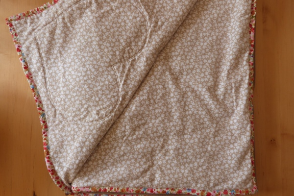 dog blanket in mocha showing back of blanket