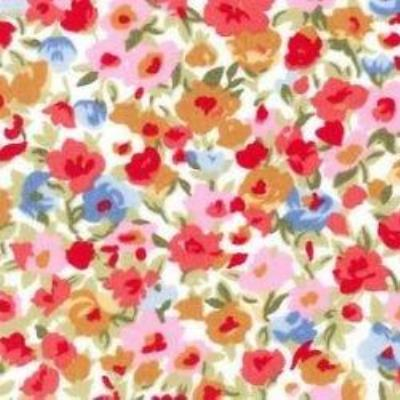 coral floral fabric for greyhound bandana
