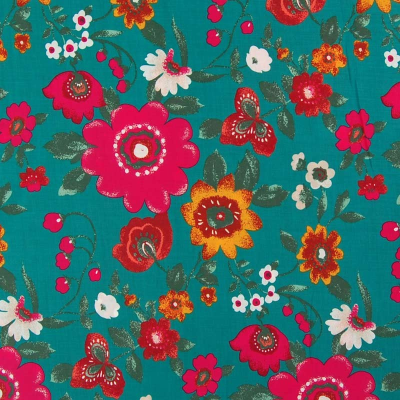 jade floral greyhound coat fabric